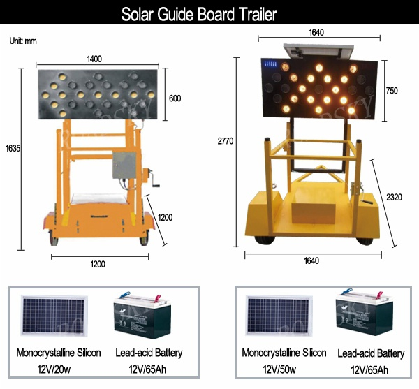 solar guide board trailer