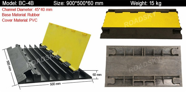 heavy duty outdoor rubber cable protector