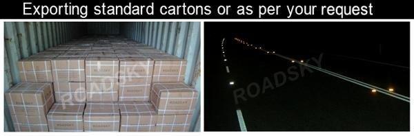 plastic road studs package