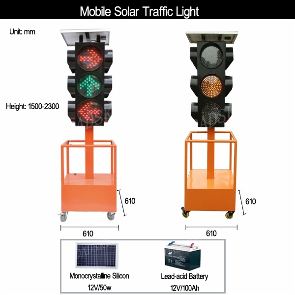 mobile solar traffic light