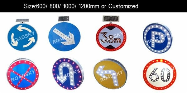 round led traffic signs