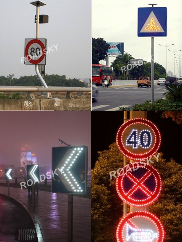 on-site use of led traffic signs